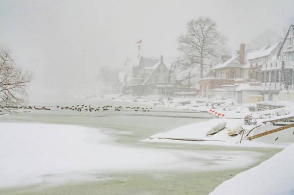 Philadelphia Phillies Digital Art - Snowy Boathouse Row - Philadelphia by Bill Cannon