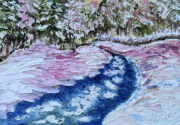 Painting - Snowy Creek by Chrys Wilson