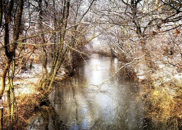 Village Creek Photograph - Snowy Creek In Babylon, Long Island by Vicki Jauron