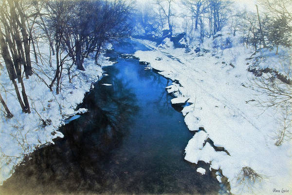 Photograph - Snowy Creek Reflections by Anna Louise