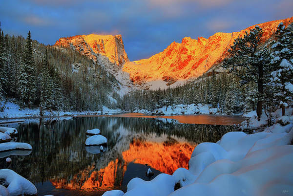 Photograph - Snowy Dawn At Dream Lake by Greg Norrell