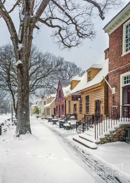 Millinery Photograph - Snowy Day At James Craig Jeweller by Karen Jorstad