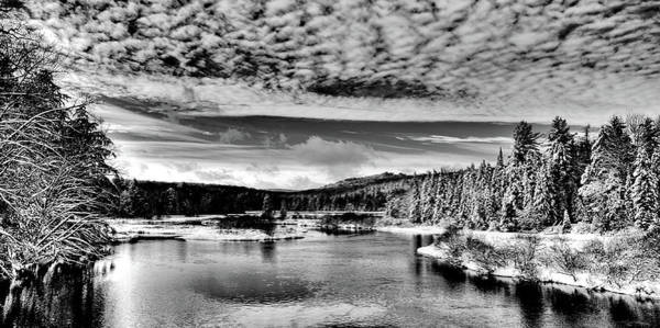 Photograph - Snowy Day At The Green Bridge by David Patterson