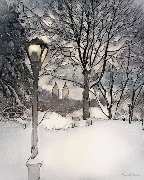 Photograph - Snowy Day In New York City by Pennie McCracken