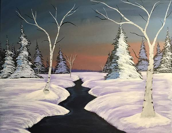 Wall Art - Painting - Snowy Day  by Willy Proctor