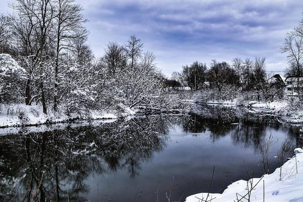 Photograph - Snowy Ellicott Creek by Nicole Lloyd