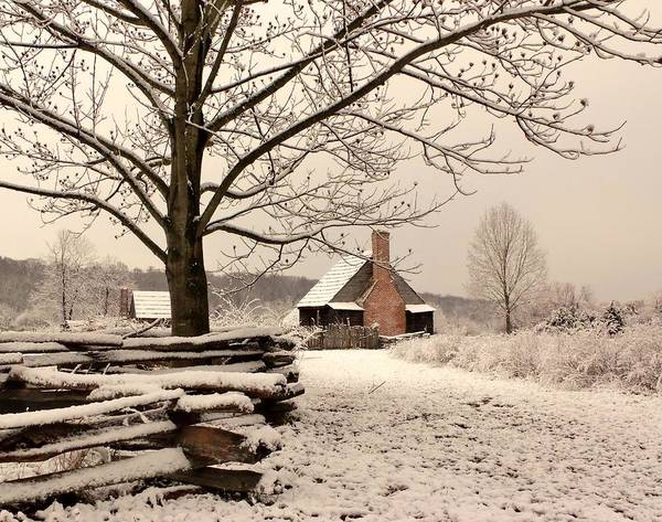 Photograph - Snowy Farm House by Buddy Scott