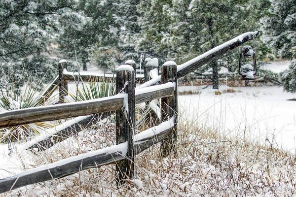 Wall Art - Photograph - Snowy Fence Line by Dawn Key