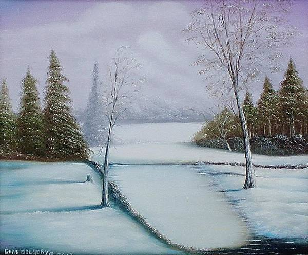 Painting - Snowy Field by Gene Gregory