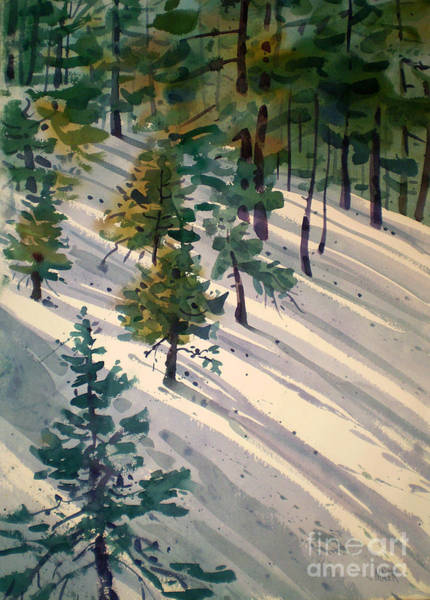 Sierra Nevada Painting - Snowy Hillside by Donald Maier