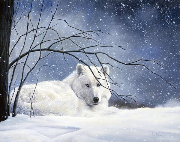 Wall Art - Painting - Snowy by Lucie Bilodeau