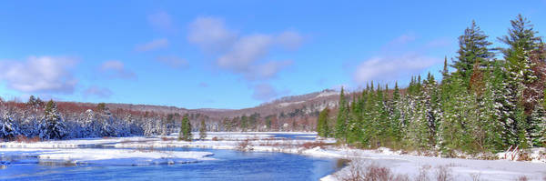 Photograph - Snowy Moose River Panorama by David Patterson