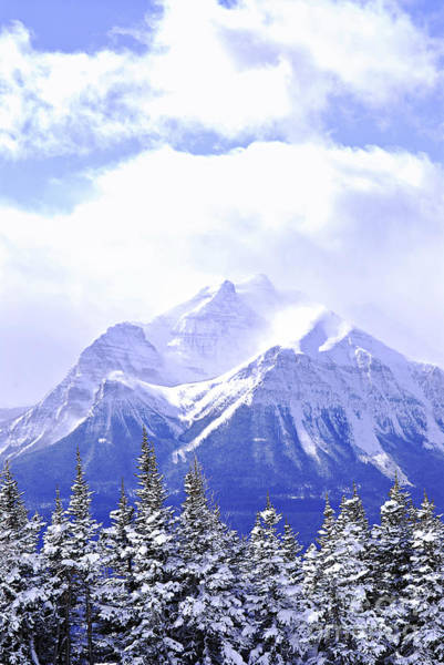 Wall Art - Photograph - Snowy Mountain by Elena Elisseeva