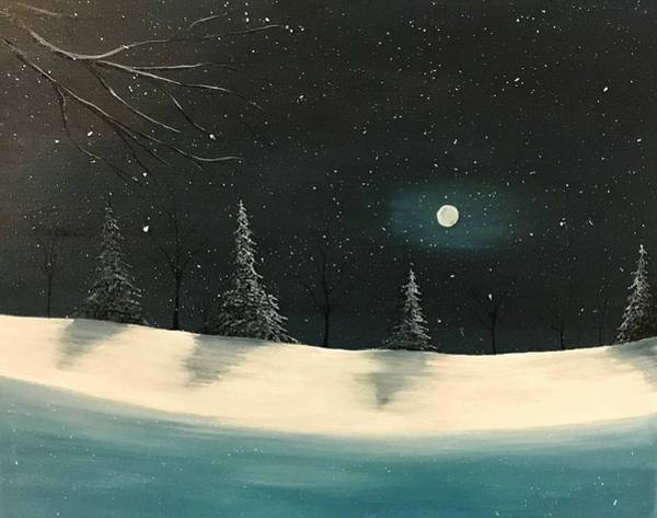 Wall Art - Painting - Snowy Night by Willy Proctor