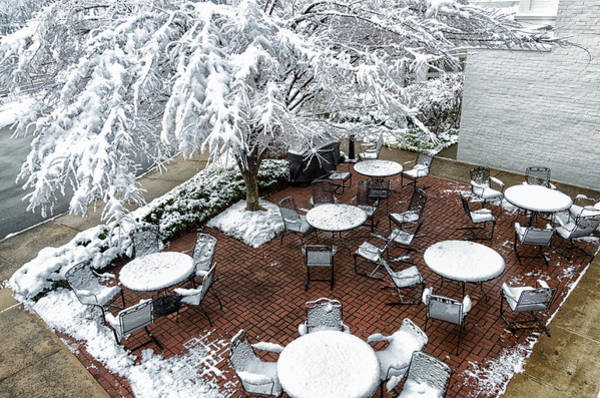 Photograph - Snowy Outdoor Patio At The Federal Executive Institute by Lori Coleman