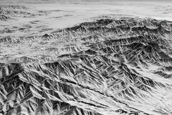 Photograph - Snowy Peaks And Dark Valleys by SR Green