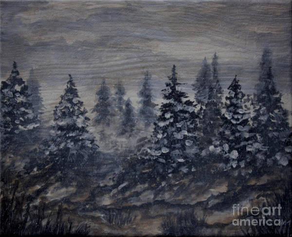 Painting - Snowy Pines by Tim Musick