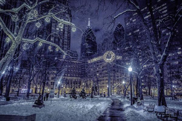 Rittenhouse Square Wall Art - Photograph - Snowy Rittenhouse Square by John Jack