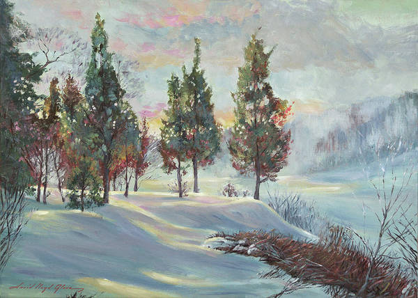 Painting - Snowy River Dawn by David Lloyd Glover