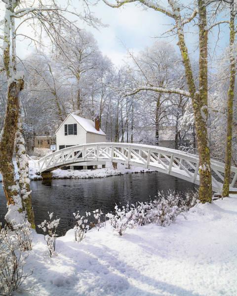 Wall Art - Photograph - Snowy Somesville Bridge by Benjamin Williamson