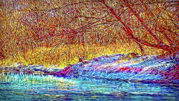 Digital Art - Snowy Stream Dreams by Joel Bruce Wallach
