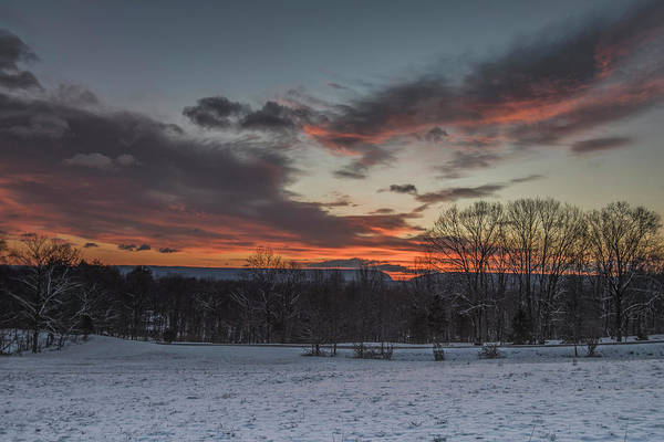 Wall Art - Photograph - Snowy Sunrise Over Delaware Water Gap by Dave Sandt