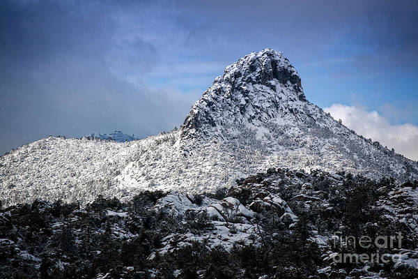 Photograph - Snowy Thumb Butte by Scott Kemper