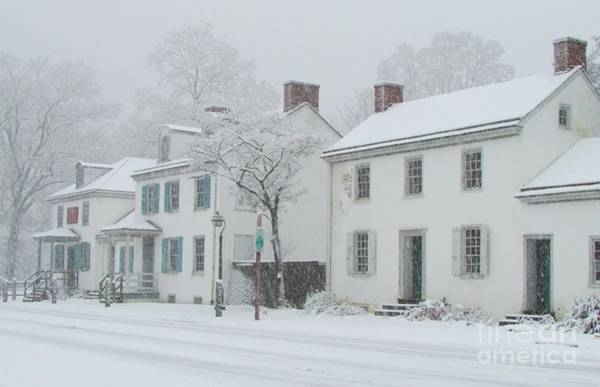 Notable Photograph - Snowy Washington Crossing by Anne Ditmars