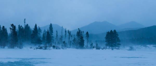 Photograph - Snowy Winter Evening Panorama by Cascade Colors