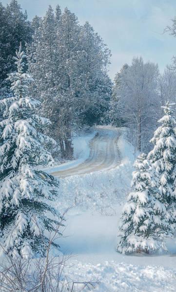 Wall Art - Photograph - Snowy Wisconsin Road by Joan Carroll