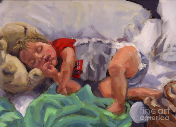 Painting - Snug As A Bug by Nancy Parsons