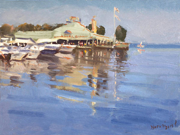 Wall Art - Painting - Snug Harbour At Port Credit by Ylli Haruni