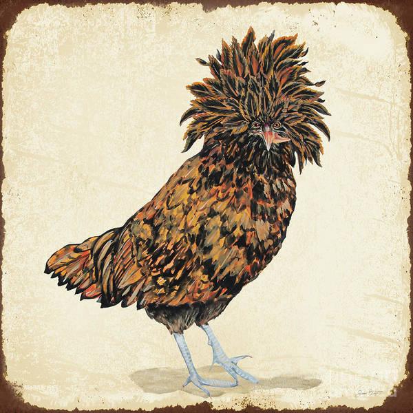Wall Art - Painting - So Fair Field Farms Hen by Jean Plout