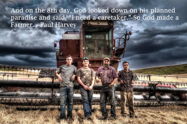 Wall Art - Photograph - So God Made A Farmer by Mark Kiver