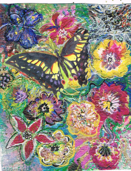 Flutterby Wall Art - Painting - So Many Flowers So Little Time by Anne-Elizabeth Whiteway