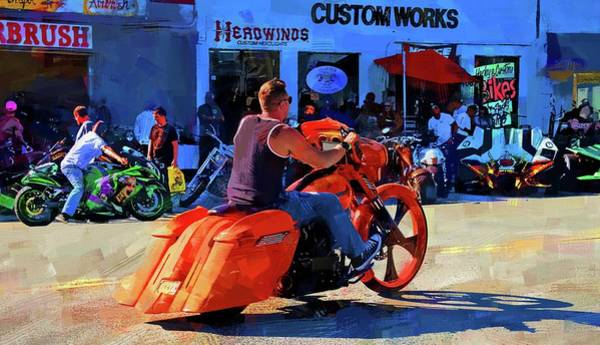 Daytona Bike Week Wall Art - Photograph - So Very Orange by Alice Gipson