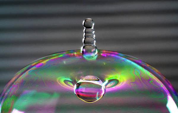 Photograph - Soap Bubble Drop by Max Neivandt
