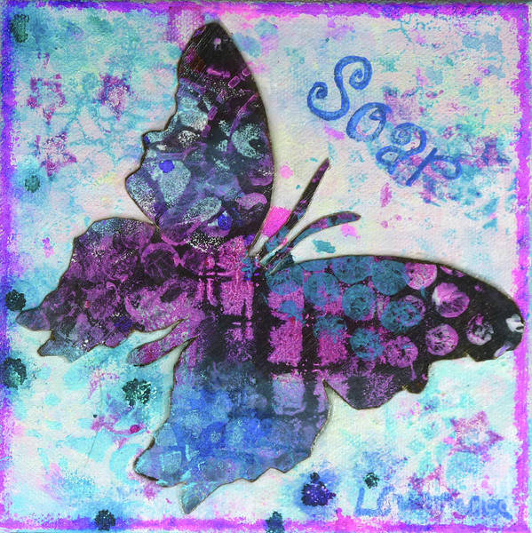 Painting - Soar Butterfly by Lisa Crisman