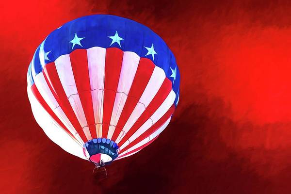 Photograph - Soaring Patriotic by Alice Gipson