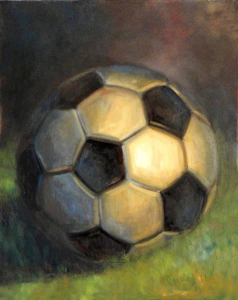 George Best Wall Art - Painting - Soccer Ball  by Hall Groat