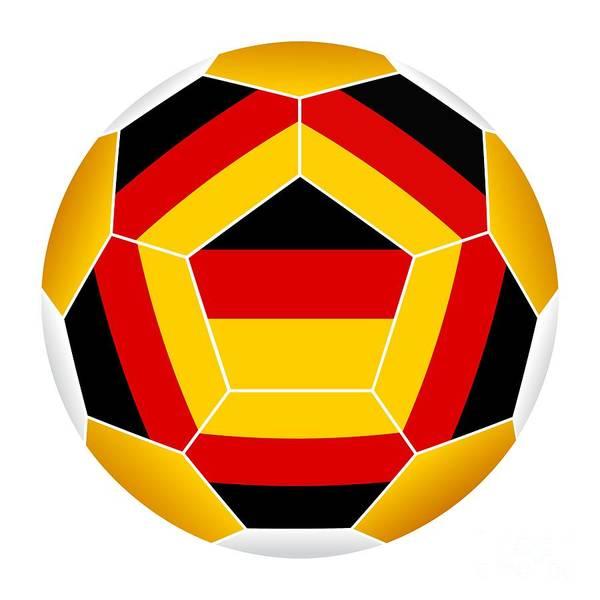 Digital Art - Soccer Ball With German Flag by Michal Boubin