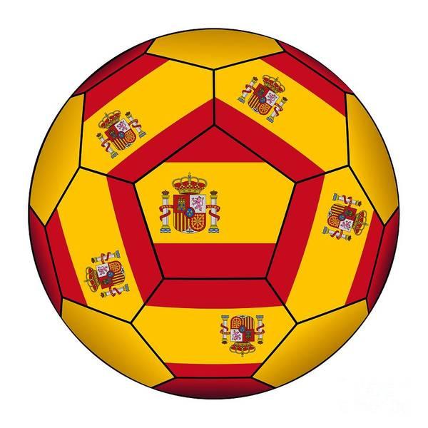 Digital Art - Soccer Ball With Spanish Flag by Michal Boubin
