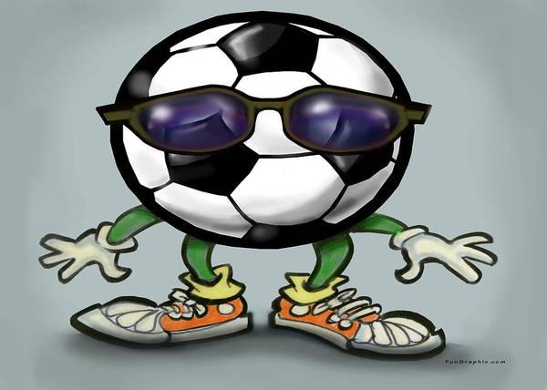 Digital Art - Soccer Cool by Kevin Middleton