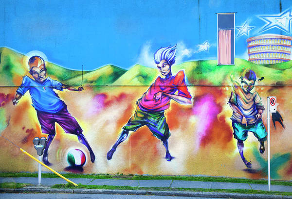 Little Italy Photograph - Soccer Graffiti by Theresa Tahara