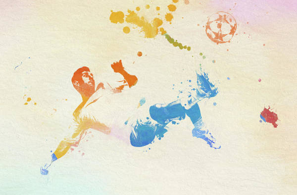 Painting - Soccer Kick by Dan Sproul