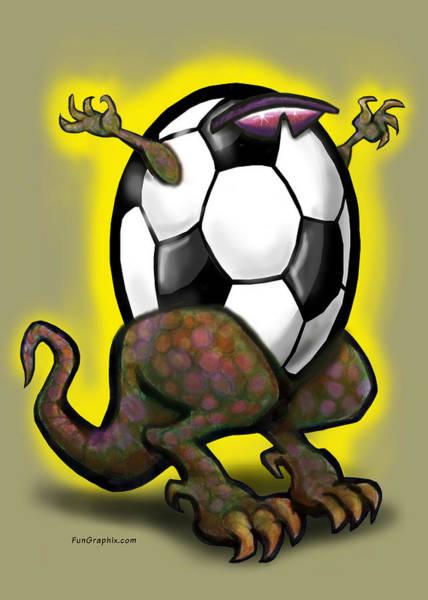 Soccer Zilla Art Print