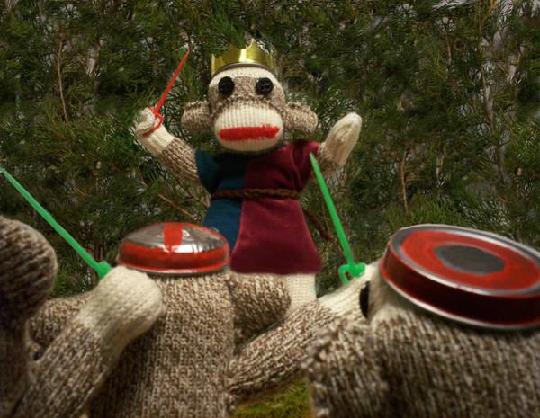 Sock Monkey Photograph - Sock Monkey King Henry V by David Jones
