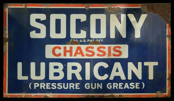 Photograph - Socony Sign by Chris Flees