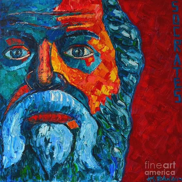 Painting - Socrates Look by Ana Maria Edulescu