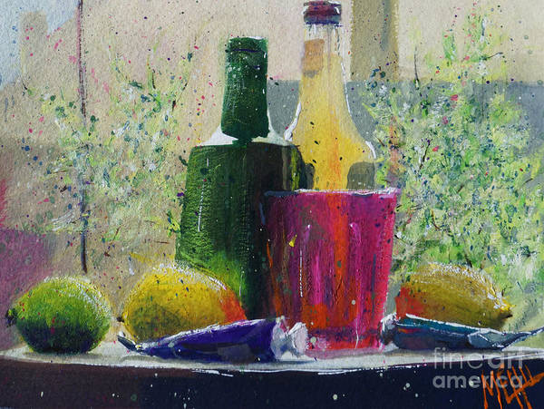 Guache Painting - Soda And Lemons #1 by Andre MEHU